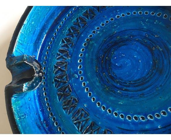 Cendrier en céramique de Bitossi XL design italien 60s 25cm