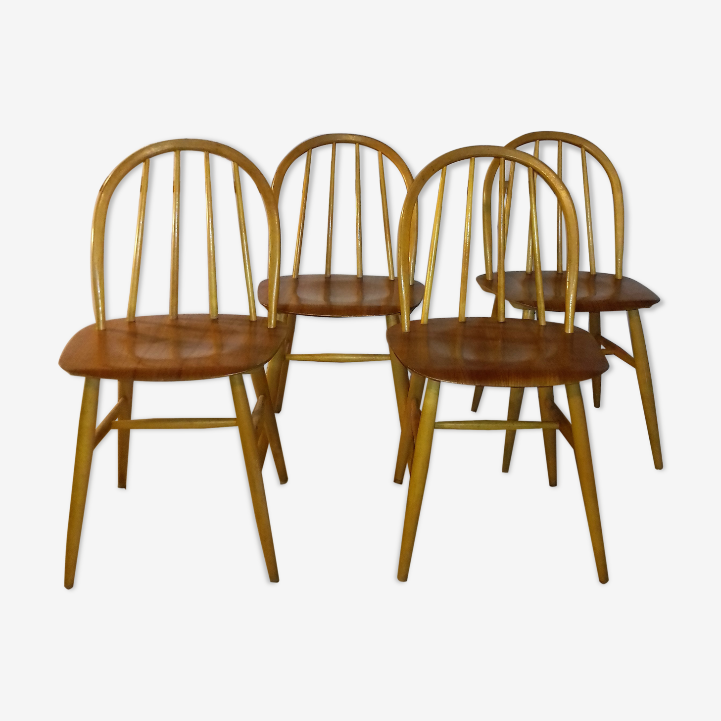 "Set de 4 chaises modèle ""fanett"" design Ilmari Tapiovaara 1959"