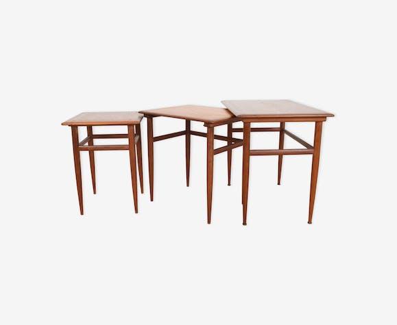 Tables gigognes danoise en teck des années 1960