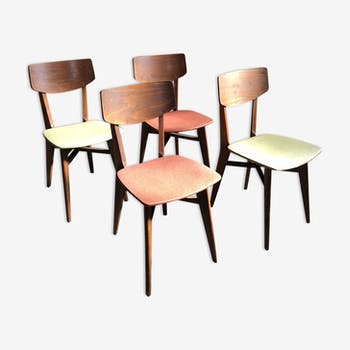 Set of 4 chairs vintage 50s
