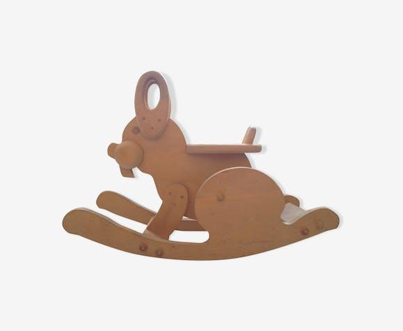 All wooden rocking rabbit