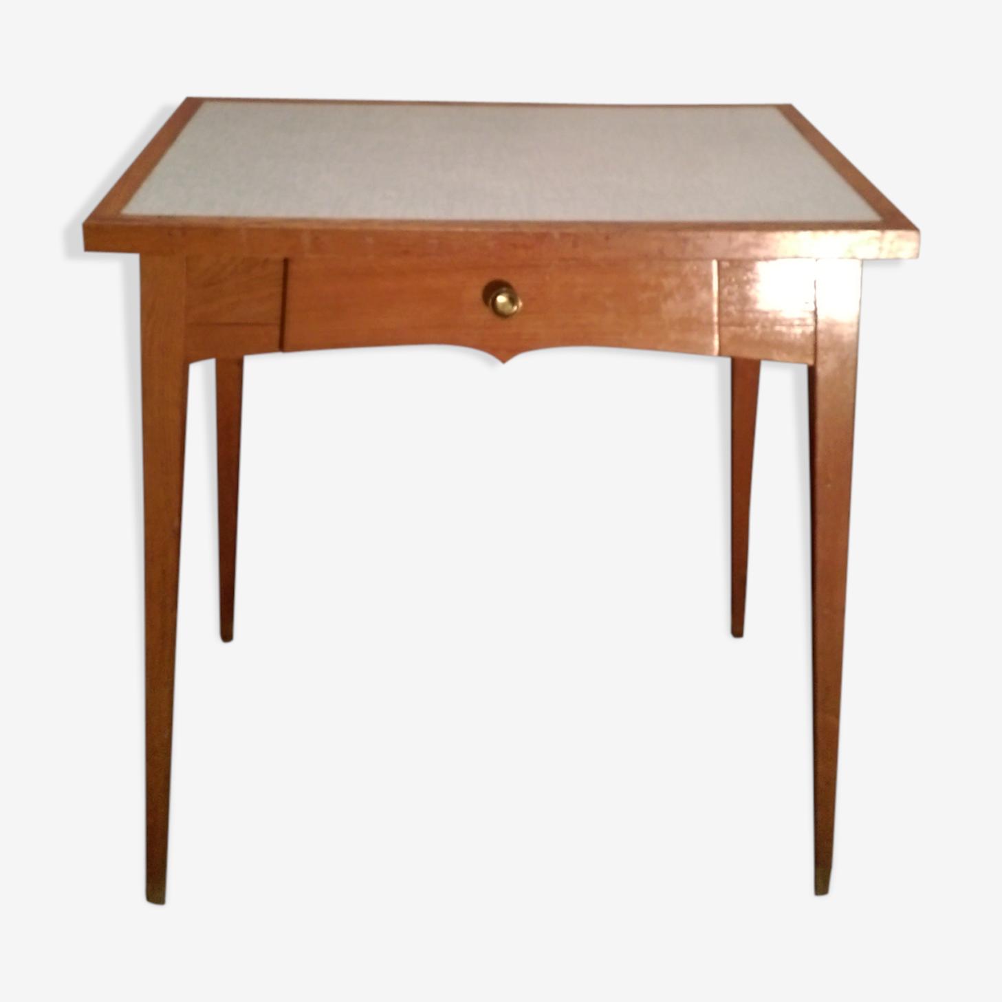 Table bureau pied compas 1950