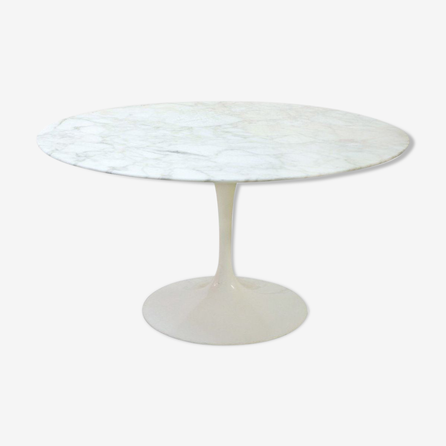 Table 137 cm Tulip Vintage by Eero Saarinen for Knoll Calacatta marble