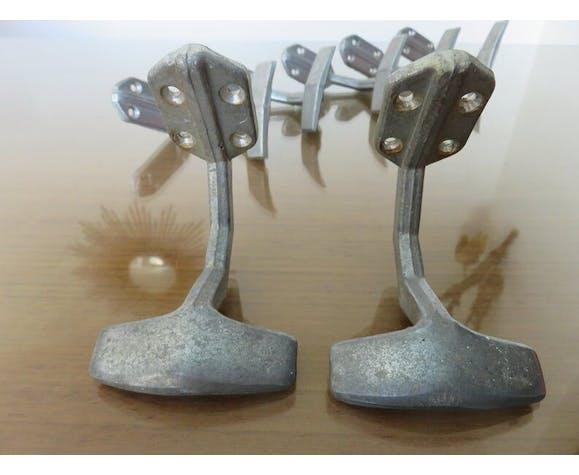 Set de 7 patères en aluminium bistrot art deco années 30 40