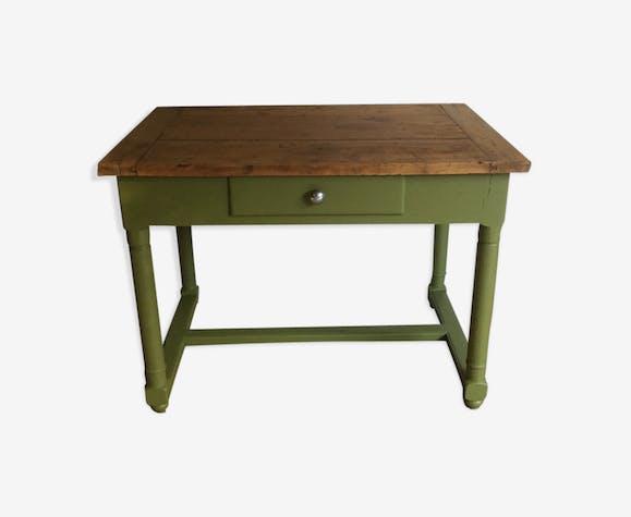 Bureau ou table a écrire ancienne bois matériau vert