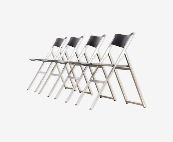 Chaises pliantes P08 par Justus Kolberg pour Tecno