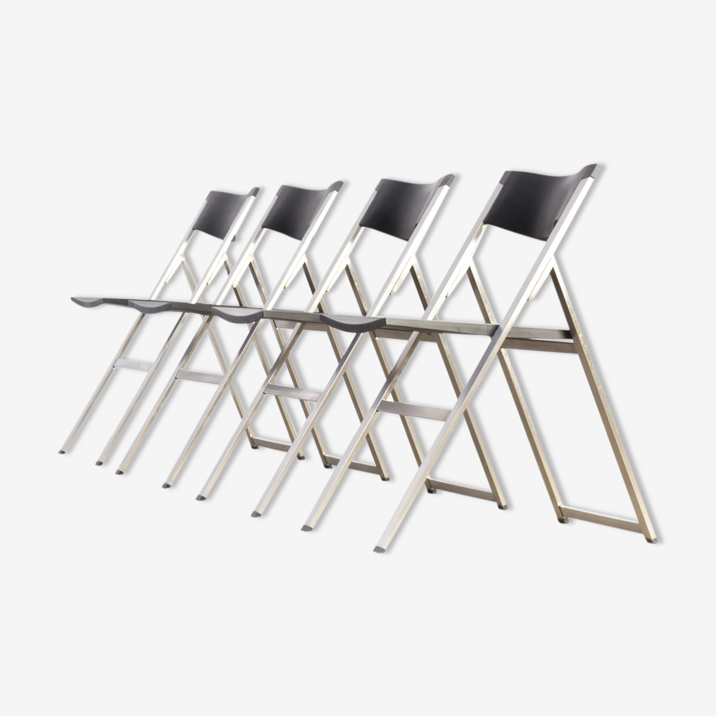 Folding chairs P08 by Justus Kolberg for Tecno