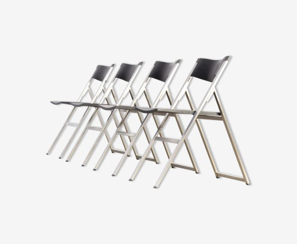 Folding chairs P08 by Justus Kolberg for Tecno