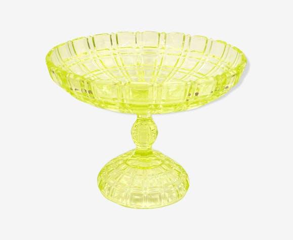 Coupe sur pied en cristal ouraline de Portieux