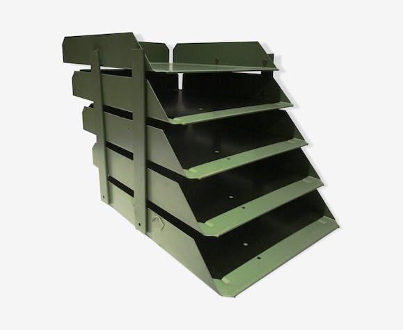 trieur de bureau m tal industriel m tal vert. Black Bedroom Furniture Sets. Home Design Ideas