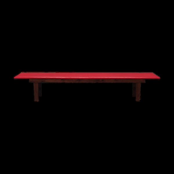 Banc rouge, design danois, années 90