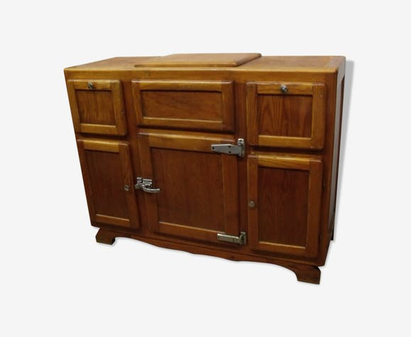 Meuble glaci re 1950 buffet de cuisine bois mat riau bois couleur vintage jepc8mq - Meuble glaciere bois ...