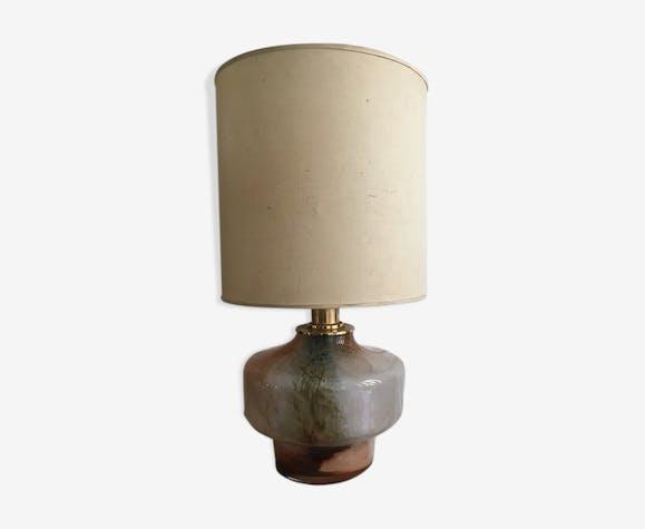 Lampe vintage verre laiton