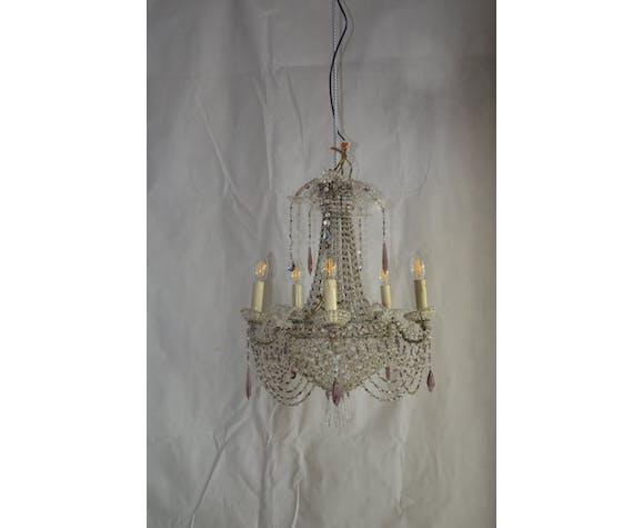 Balloon XIX th century crystal chandelier