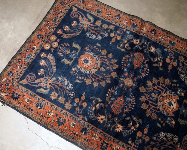 Tapis ancien persan sarouk  109 x 167cm 1920s