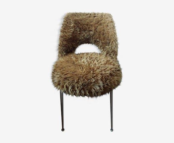 Vintage plush barrel chair