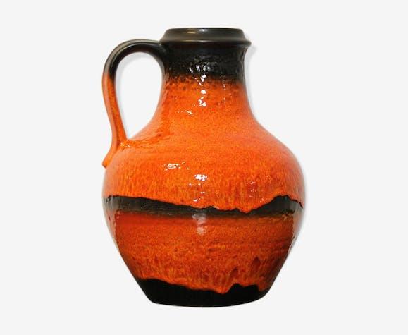 Vase Fat Lava avec poignée par Carstens Tönnieshof, Allemagne de l'ouest