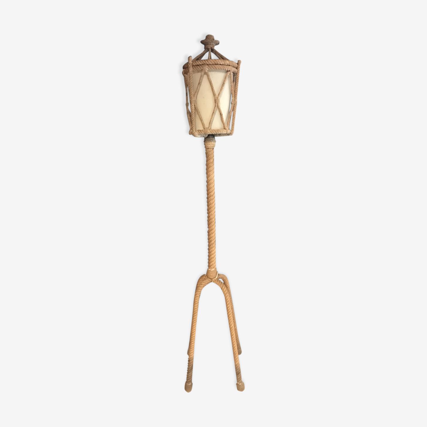 Lampadaire corde années 60