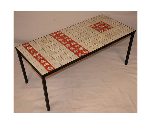 Table basse de Roger Capron en céramique 1950