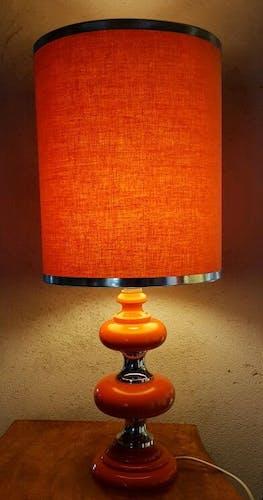 Big lamp Orange and chrome 70's