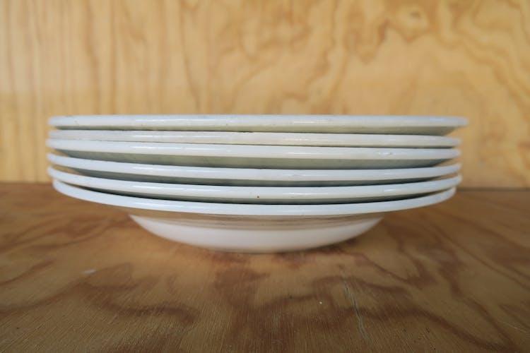 6 assiettes creuses St Amand