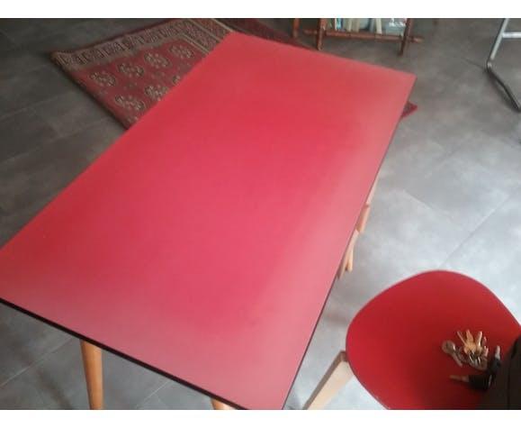 Vintage red formica desk