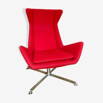 Fauteuil rouge design Free by Marco Maran Parri