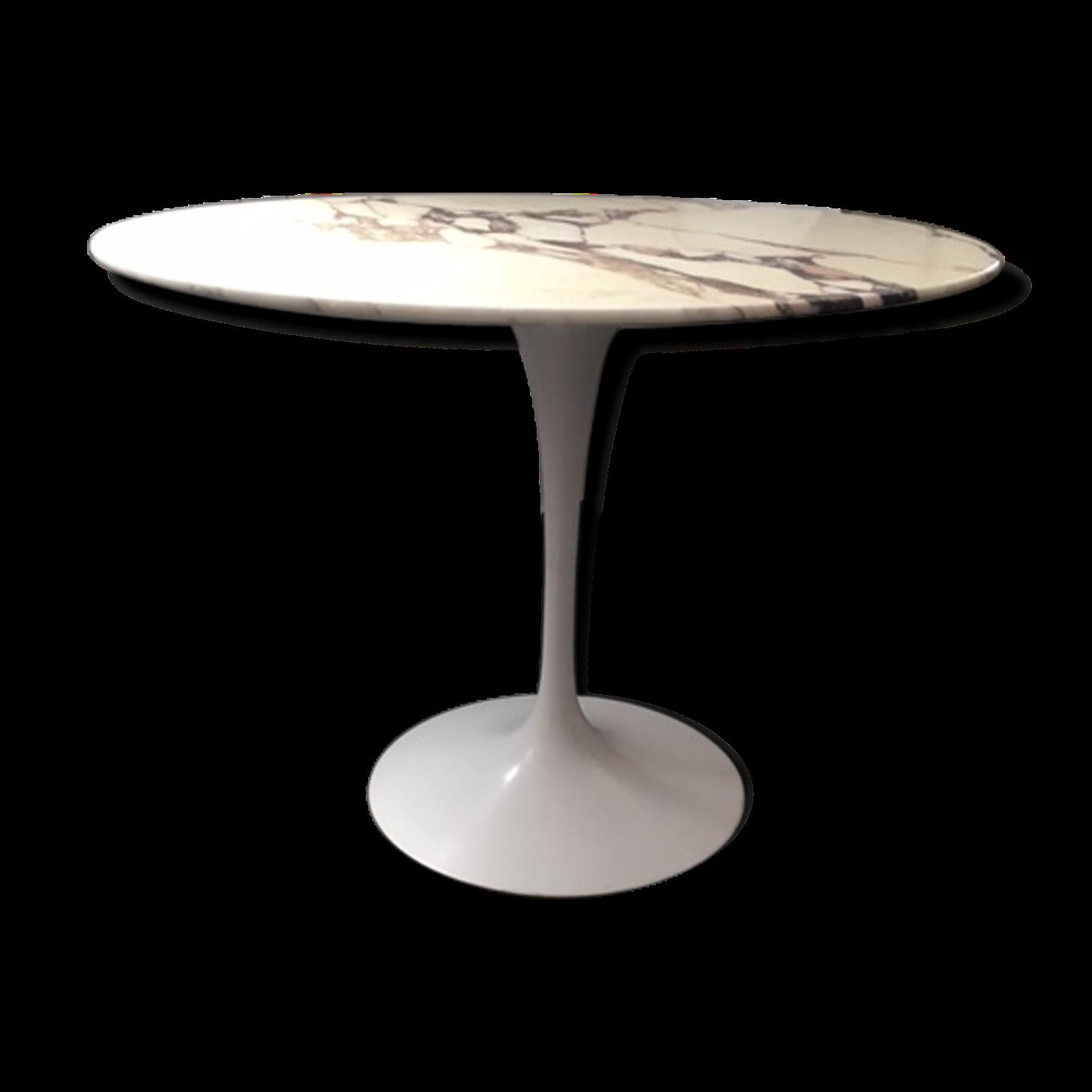 Table Saarinen Knoll International marbre carrare