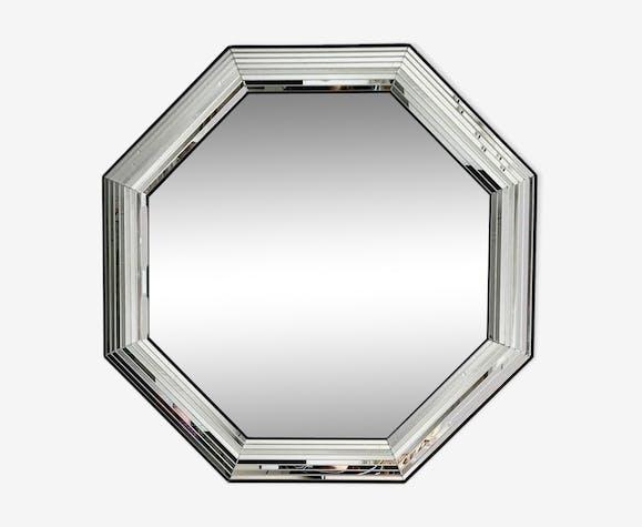 Miroir octogonal moderne du milieu du si cle ann es 70 for Miroir octogonal