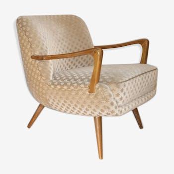 Fauteuil scandinave cocktail design années 50 60