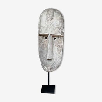 Very large carved tribal mask wood - H 190cm