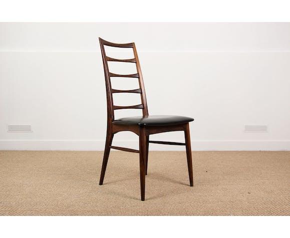 Série de 6 chaises Danoises en palissandre de Rio modèle Liz de Niels Koefoed