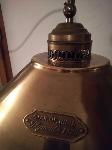Brass lamppost
