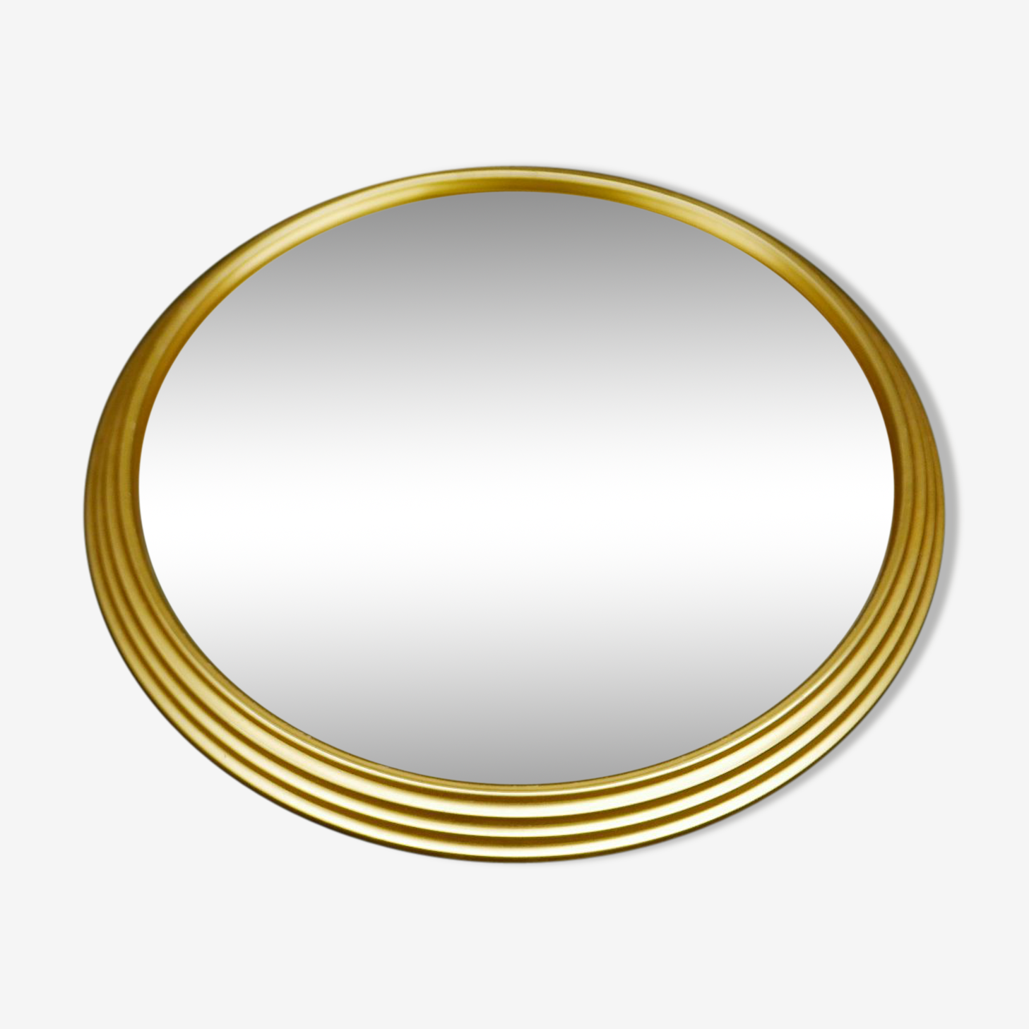 Tray round mirror vintage