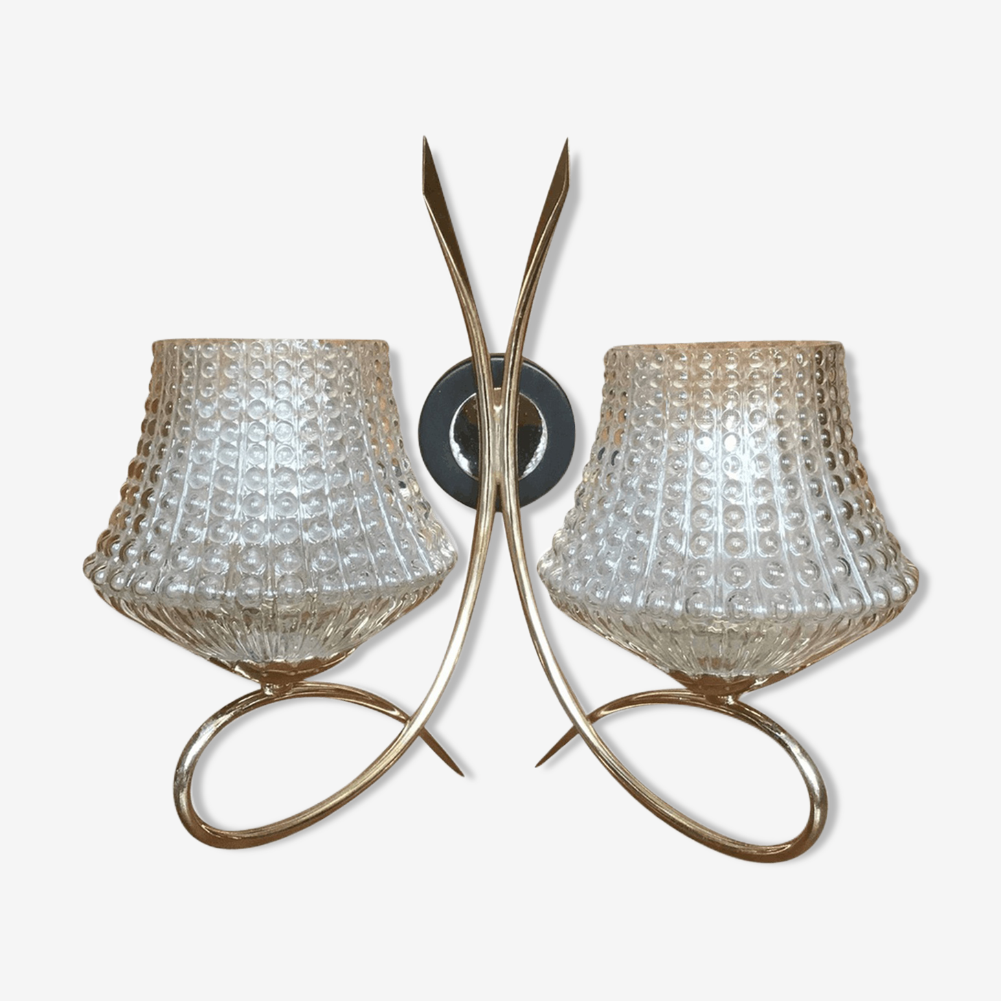 Wall light double House Arlus 1960