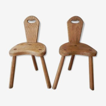 Set of 2 chairs old wooden