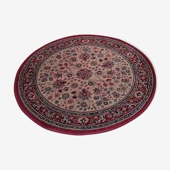 Tapis royal rond en laine 80cm