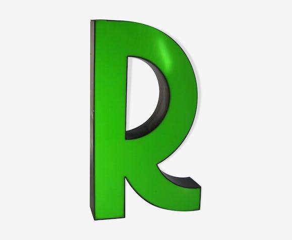 Lettre r verte - métal - vert - vintage - uWoL0mH
