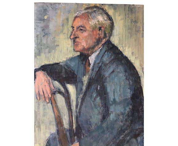 Portrait à l huile ancien