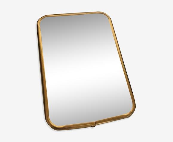 Barber 60 s, Golden aluminium frame mirror. 16.5 cm x 11.5 cm ...