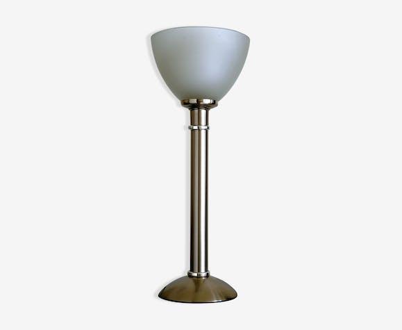Lampe bureau coupole verre opaque