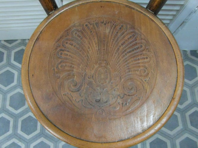 Chaise style Thonet en bois courbé art déco