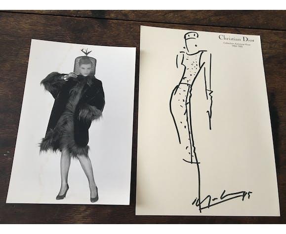 Christian Dior : esquisse de mode & photographie de presse, 1984-1985