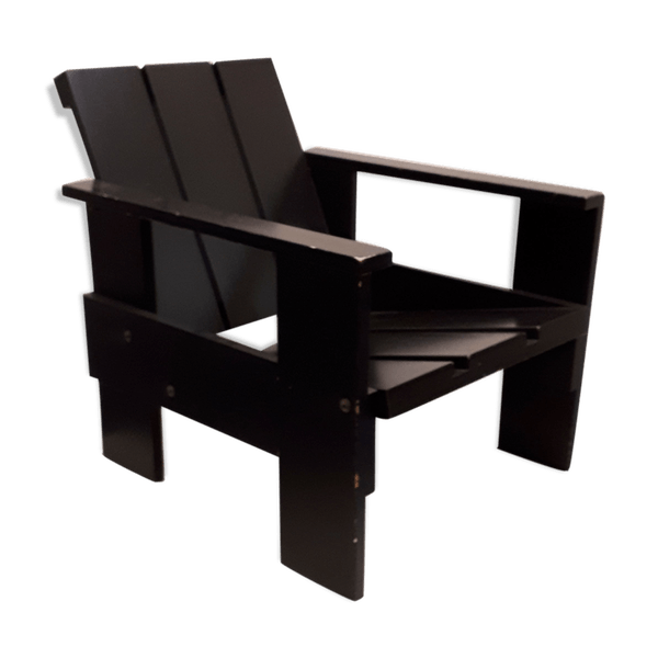 Tremendous Rietveld Gerrit Armchair Wood Black Good Condition Design Huqwry6 Download Free Architecture Designs Scobabritishbridgeorg