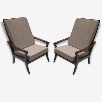 Pair of Danish chairs high back - 1960
