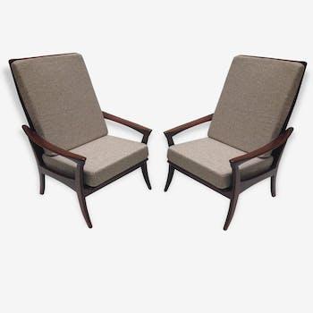 Paire de fauteuils danois à haut dossier - 1960