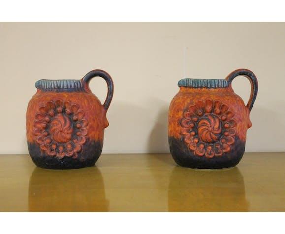Pair of 1960s ceramic vase