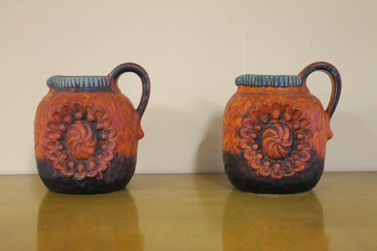 Paire de vase en céramique des années 1960