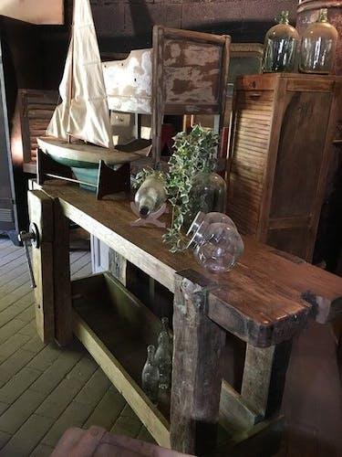 Ancien établi début XXeme en bois massif