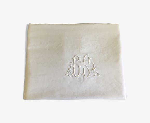Old sheet, GS monogram
